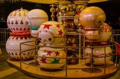 Decoraciones exteriores de la Navidad Imagen de archivo libre de regalías