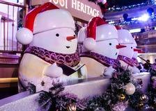 Decoraciones exteriores de la Navidad Imágenes de archivo libres de regalías