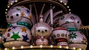 Decoraciones exteriores de la Navidad Fotografía de archivo