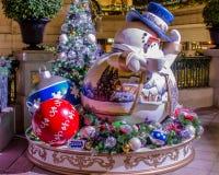 Decoraciones exteriores de la Navidad Foto de archivo
