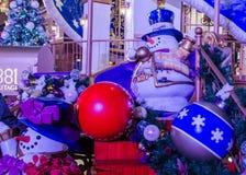 Decoraciones exteriores de la Navidad Imagenes de archivo