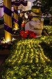 Decoraciones exteriores de la Navidad Fotos de archivo