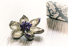 Decoraciones femeninas, un símbolo de la flor Imagen de archivo libre de regalías