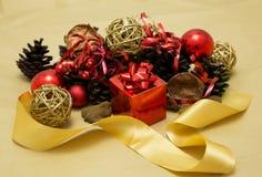 Decoraciones festivas de la Navidad Imagen de archivo