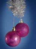 Decoraciones festivas del árbol de navidad Foto de archivo