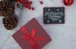 Decoraciones fijadas para las celebraciones dulces de la Navidad Imagen de archivo