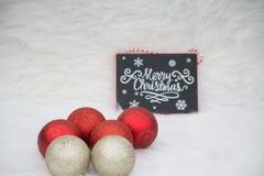 Decoraciones fijadas para las celebraciones dulces de la Navidad Imagenes de archivo