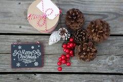 Decoraciones fijadas para las celebraciones dulces de la Navidad Fotos de archivo libres de regalías