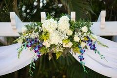 Decoraciones florales de la boda Fotografía de archivo libre de regalías