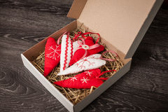 Decoraciones hechas a mano del árbol de navidad Imagen de archivo libre de regalías