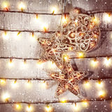 Decoraciones hermosas de la Navidad Foto de archivo