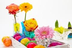 Decoraciones hermosas de pascua Fotografía de archivo libre de regalías