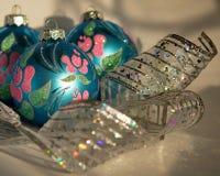 Decoraciones hermosas del Año Nuevo Fotografía de archivo libre de regalías