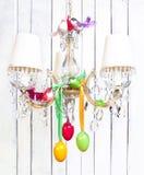 Decoraciones interiores caseras de Pascua - lámpara imagen de archivo
