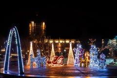 Decoraciones llenas de la Navidad Foto de archivo libre de regalías