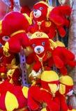 Decoraciones lunares chinas Pekín China del Año Nuevo de los perros rojos Foto de archivo libre de regalías