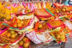 Decoraciones lunares del Año Nuevo Foto de archivo libre de regalías