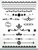 Decoraciones, negro y WhiteCollection de la página Foto de archivo libre de regalías