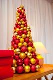 Decoraciones originales del Año Nuevo y de la Navidad para el día de fiesta Fotos de archivo