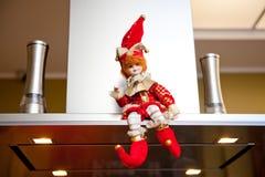 Decoraciones originales del Año Nuevo y de la Navidad para el día de fiesta Fotografía de archivo libre de regalías