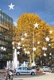 Decoraciones Palma de la Navidad Imagen de archivo