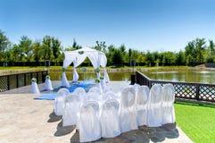 Decoraciones para la boda Fotos de archivo libres de regalías