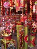 Decoraciones para la celebración del Año Nuevo chino Fotografía de archivo libre de regalías