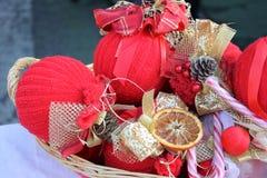 Decoraciones para la Navidad Imágenes de archivo libres de regalías