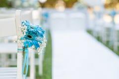 Decoraciones para una boda al aire libre Imagen de archivo