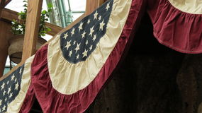 Decoraciones patrióticas de la bandera de los E.E.U.U. Fotos de archivo