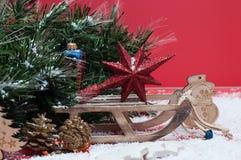 Decoraciones por la Navidad y el Año Nuevo Imagen de archivo libre de regalías
