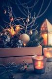 Decoraciones por la Navidad y el Año Nuevo Imagenes de archivo