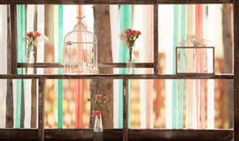 Decoraciones rústicas de la boda fotos de archivo