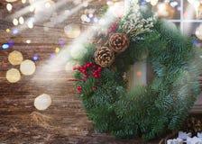 Decoraciones retras de la Navidad Fotografía de archivo