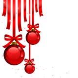 Decoraciones rojas de la Navidad Imagen de archivo