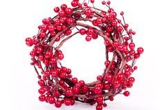 Decoraciones rojas de la Navidad Foto de archivo libre de regalías