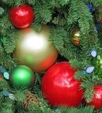 Decoraciones tradicionales de la Navidad Imágenes de archivo libres de regalías
