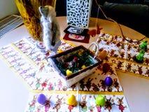 Decoraciones tradicionales de Pascua del alemán Imagen de archivo libre de regalías