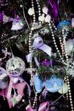 Decoraciones tradicionales hermosas de la Navidad Imagen de archivo