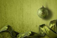 Decoraciones verdes Foto de archivo libre de regalías