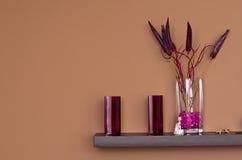 Decoraciones violetas Imágenes de archivo libres de regalías