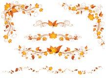 Decoraciones y divisores de la página del otoño del vintage libre illustration