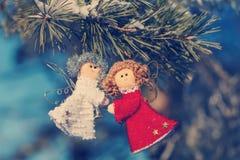 Decoraciones y juguetes de la Navidad para el árbol de navidad Fotografía de archivo