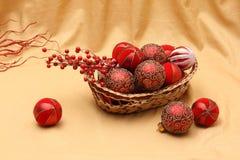 Decoraciones y ornamentos de Chirstmas Foto de archivo libre de regalías