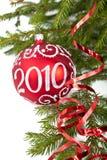 Decoraciones y ramificaciones de árbol de abeto Fotos de archivo libres de regalías