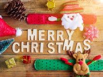 Decoraciones y símbolos de la Navidad Imagen de archivo libre de regalías