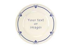Decorado em volta da placa do azul de Delft foto de stock