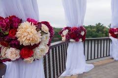 Decorado festiva belamente das flores Imagem de Stock