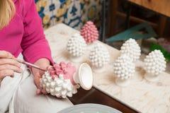 Decorador da cerâmica de Caltagirone Fotografia de Stock Royalty Free