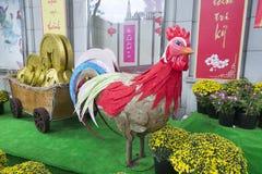 Decorações da rua na cidade de Ho Chi MInh Fotos de Stock